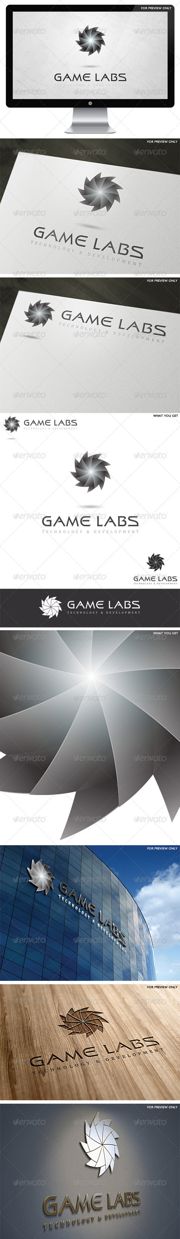 3D Game Labs Logo Template v2 - 3d Abstract