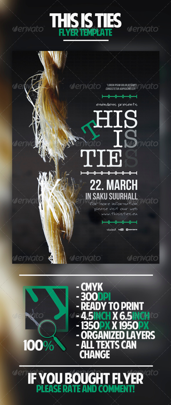 GraphicRiver This Is Ties Flyer Template 4570300