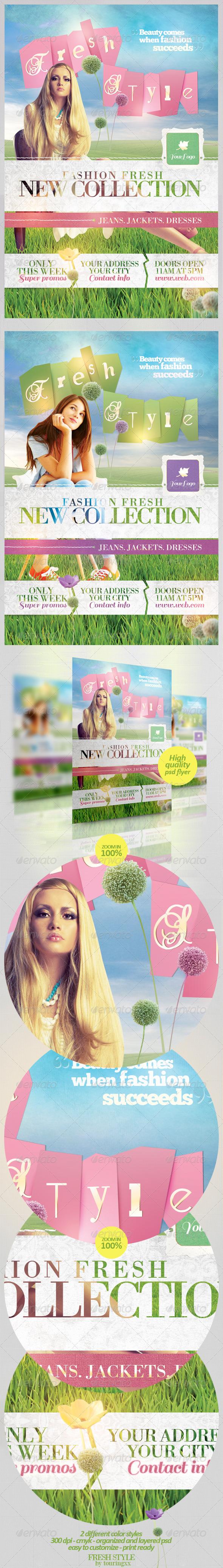 Fresh Style Flyer Template - Flyers Print Templates