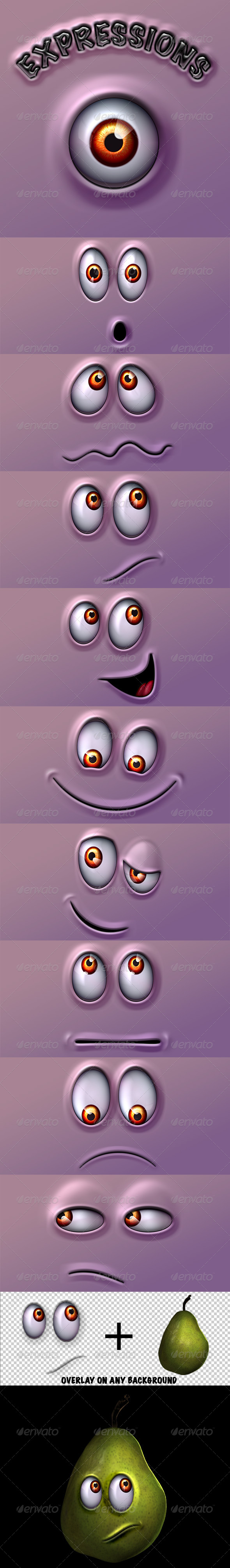 GraphicRiver Character Expressions Pack 4570791
