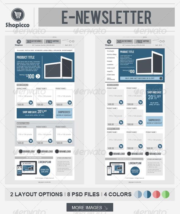 GraphicRiver Shopicco E-commerce Newsletter 4519135