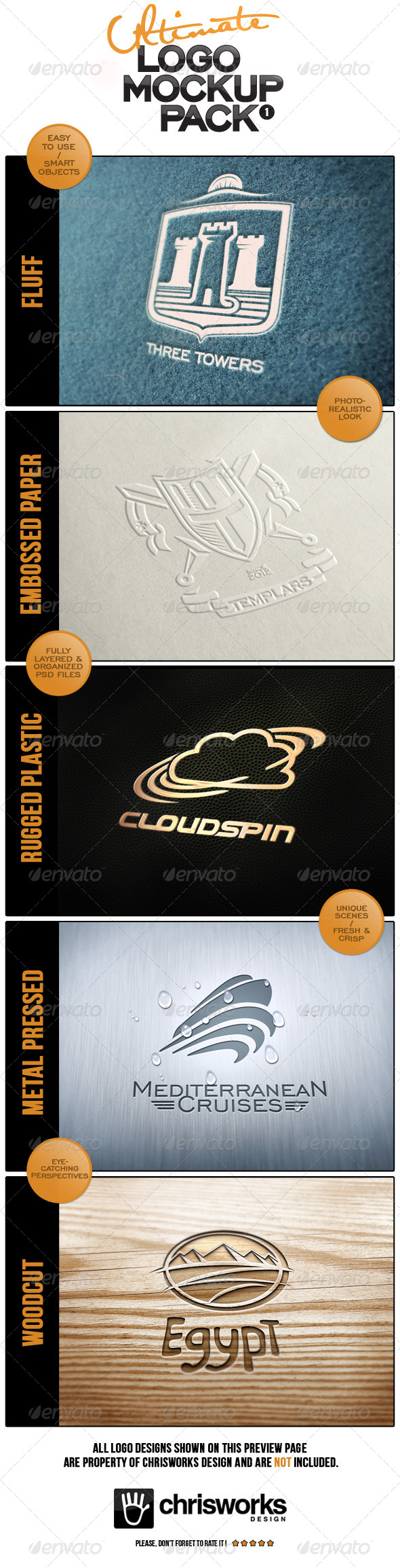 GraphicRiver Ultimate Logo Mock-Up Pack 4570979
