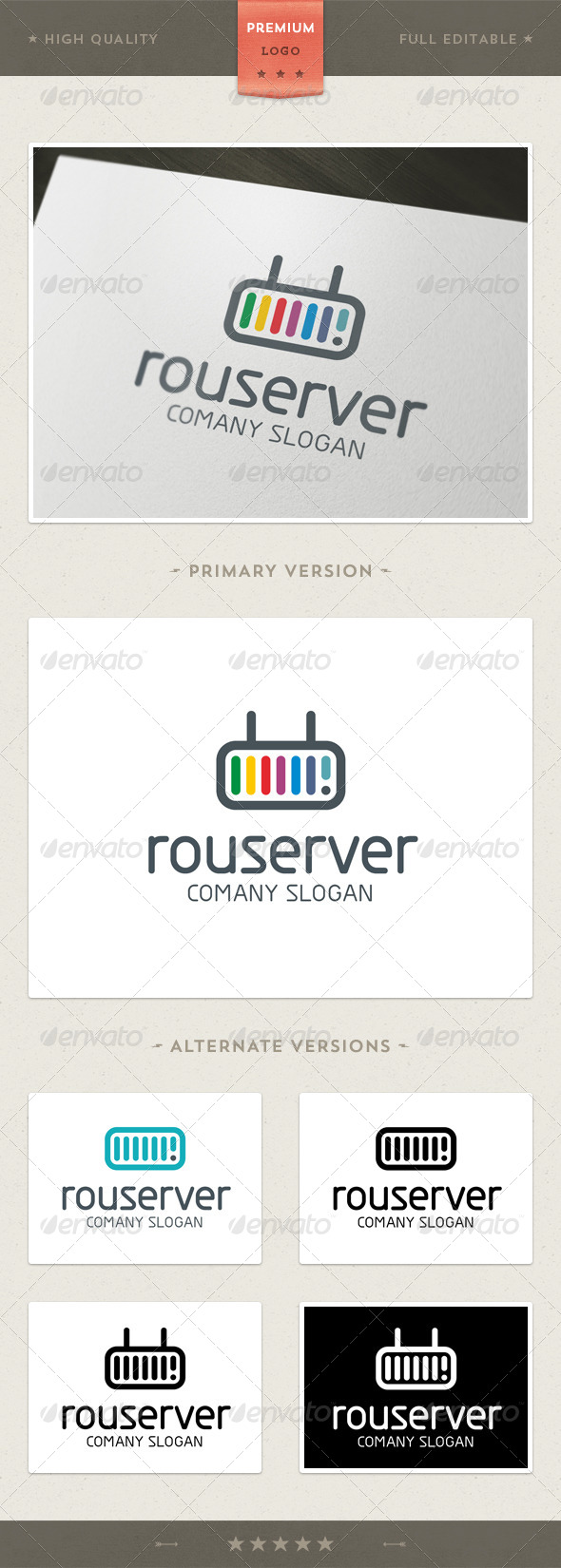 GraphicRiver Router & Server Logo Template 4570981