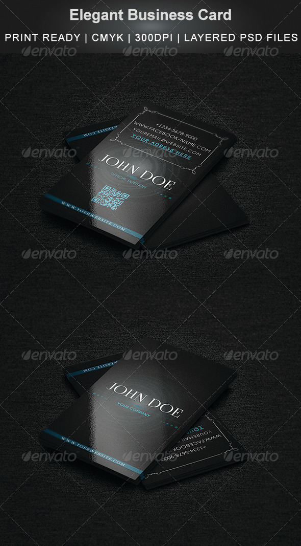 GraphicRiver Elegant Business Card 4354592