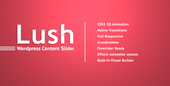 CodeCanyon Lush Content Slider for WordPress 4571140