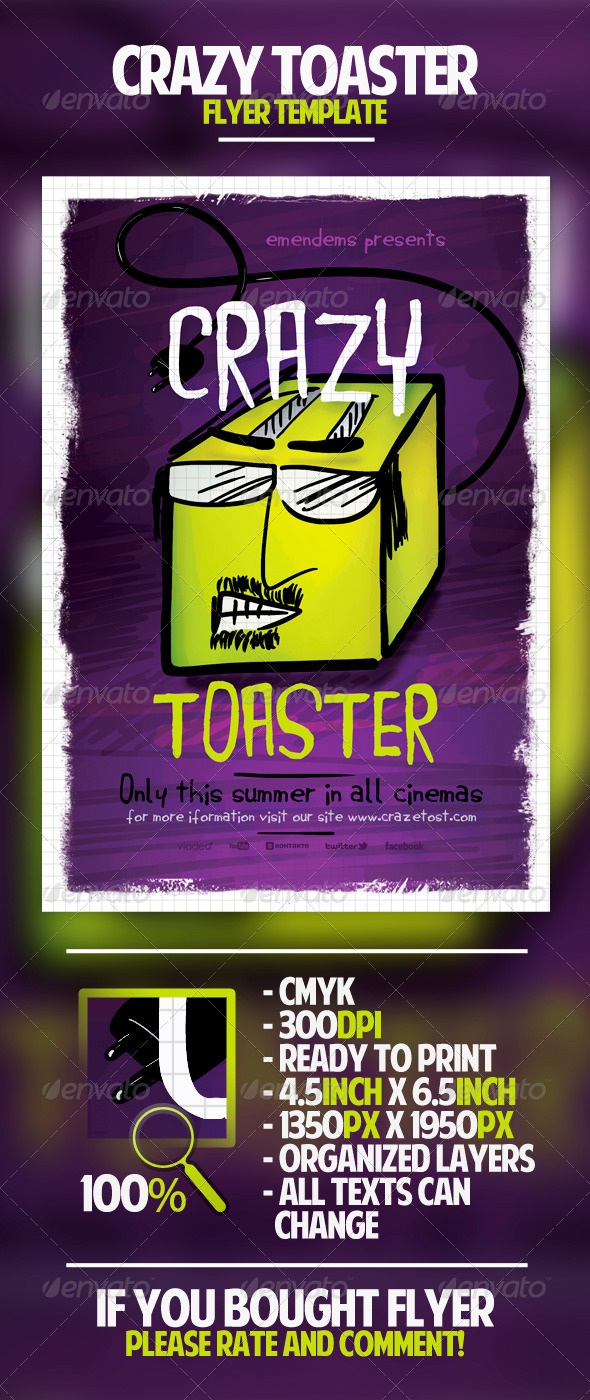 Crazy Toaster Flyer Template