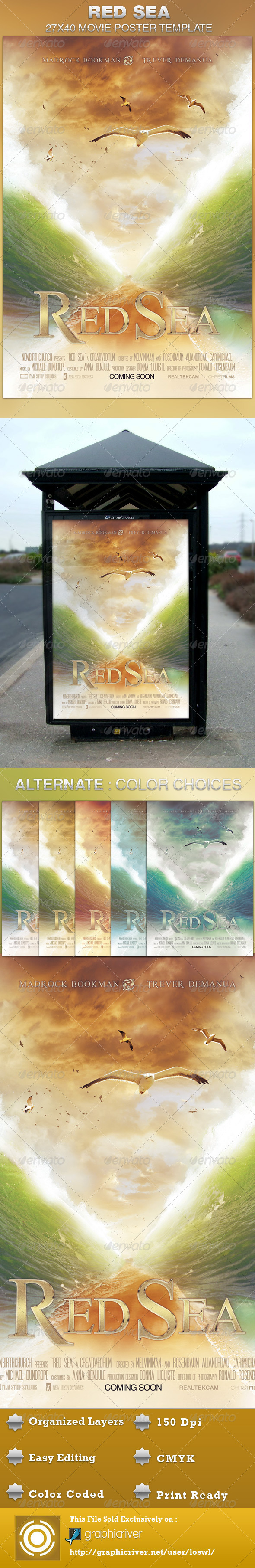 GraphicRiver Red Sea Movie Poster Template 4571192