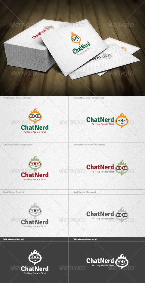 Chat Nerd Logo - Humans Logo Templates