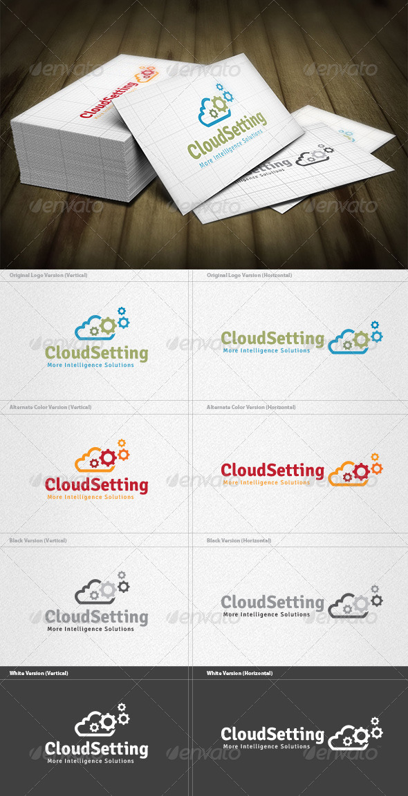 GraphicRiver Cloud Setting Logo 4571324