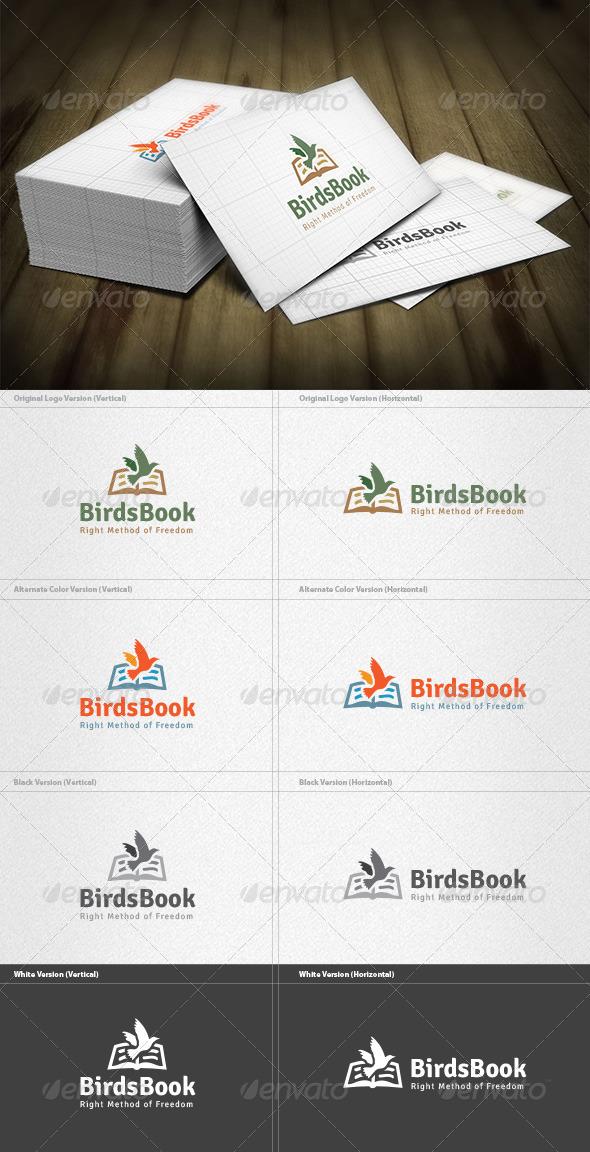 GraphicRiver Birds Book Logo 4571356