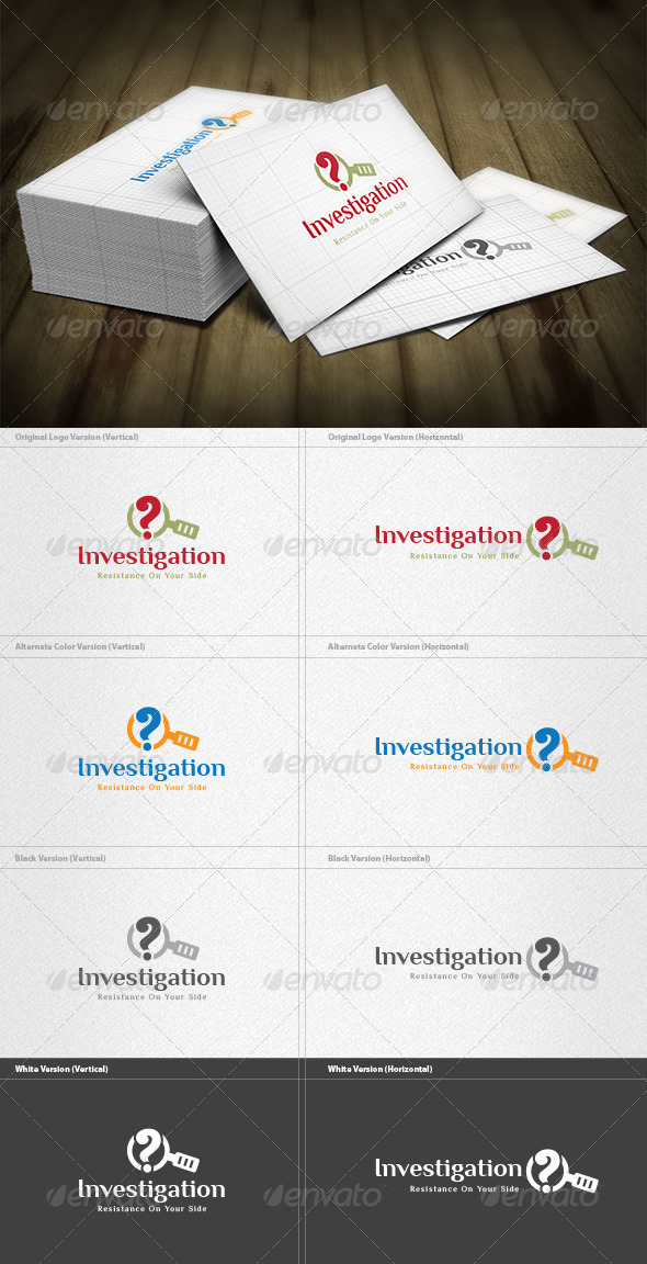 Investigation Logo - Vector Abstract