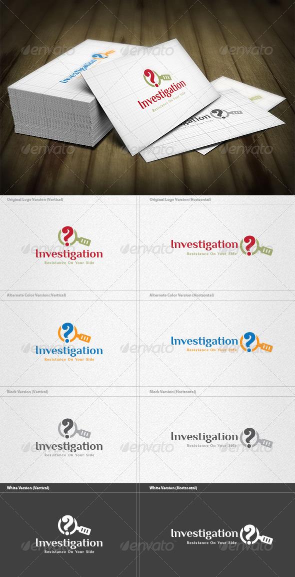 GraphicRiver Investigation Logo 4571373