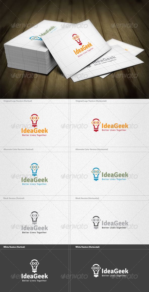 GraphicRiver Idea Geek Logo 4571410