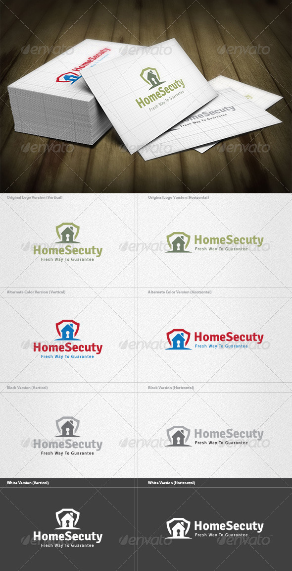 Home Security Logo - Buildings Logo Templates