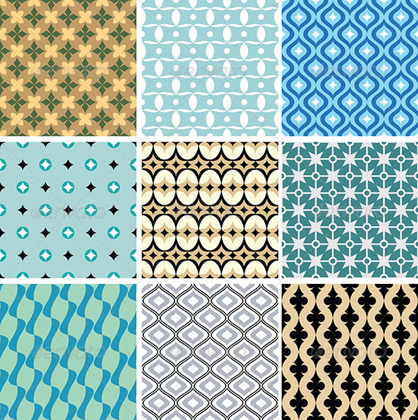GraphicRiver Abstract Vector Patterns 4571429