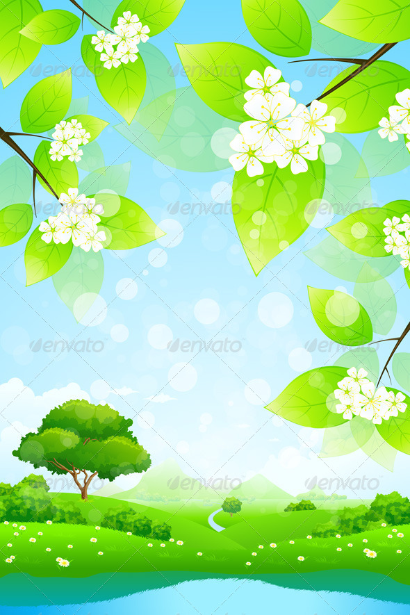 GraphicRiver Green Landscape 4571452
