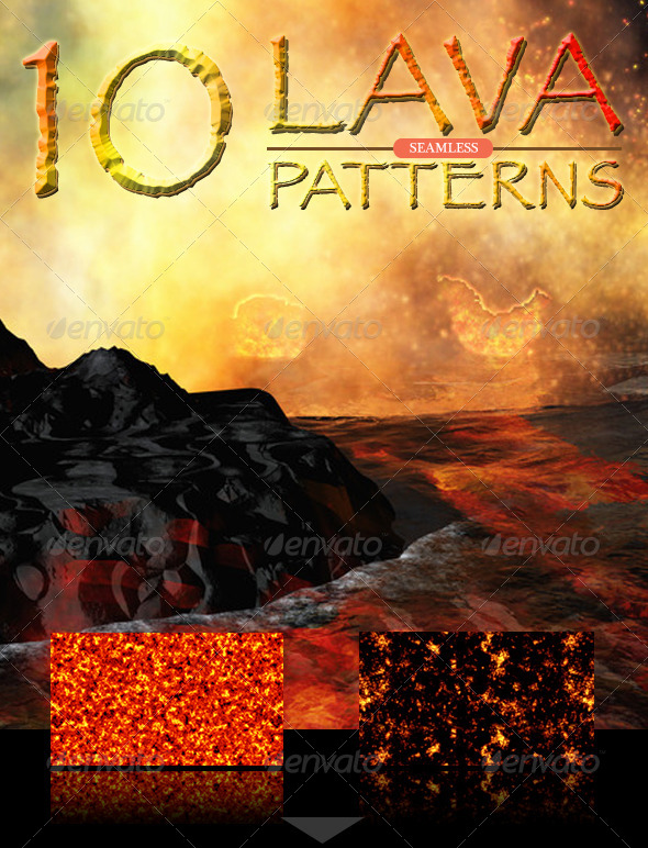 GraphicRiver Lava Seamless Patterns 4571486