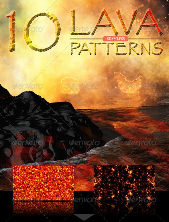 Lava Seamless Patterns - Textures / Fills / Patterns Photoshop