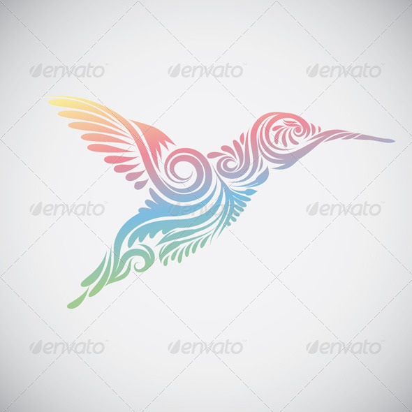 GraphicRiver Hummingbird Ornamental 4571679