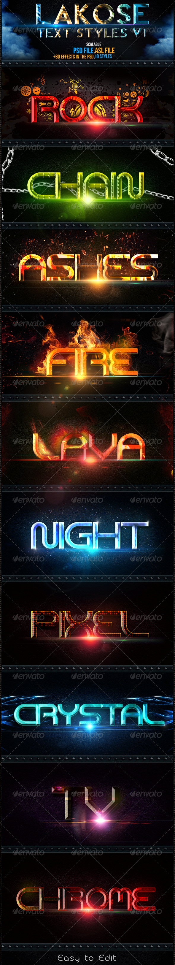 Lakose Text Styles v1 - Text Effects Styles