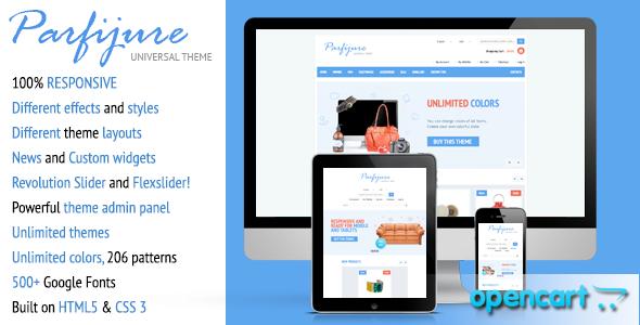 ThemeForest Parfijure Premium Responsive OpenCart theme 4572738
