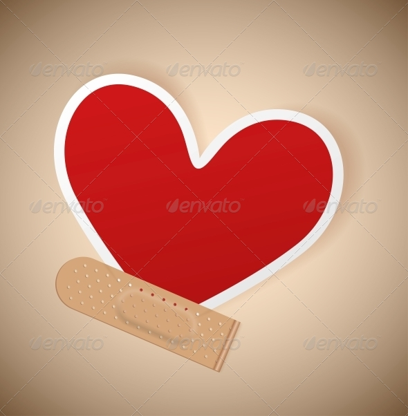 GraphicRiver Plaster and Heart 4572817