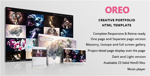 ThemeForest OREO Creative Portfolio Responsive Retina HTML 4572859