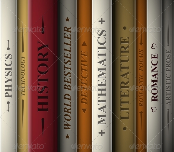 GraphicRiver Books of Various Genres 4572898