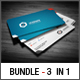 3 in 1 Business Card Bundle - GraphicRiver Item for Sale