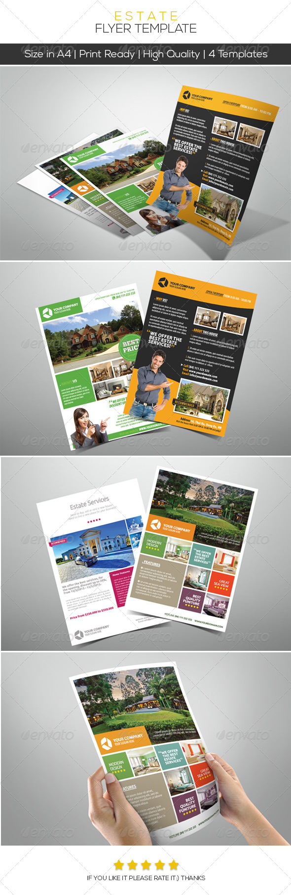 Premium Estate Flyers - Commerce Flyers