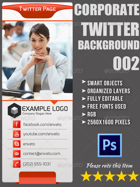Corporate Twitter Background 02 - Twitter Social Media