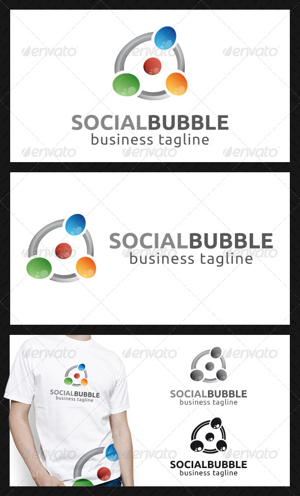 GraphicRiver Social Bubbles Logo Template 4573991