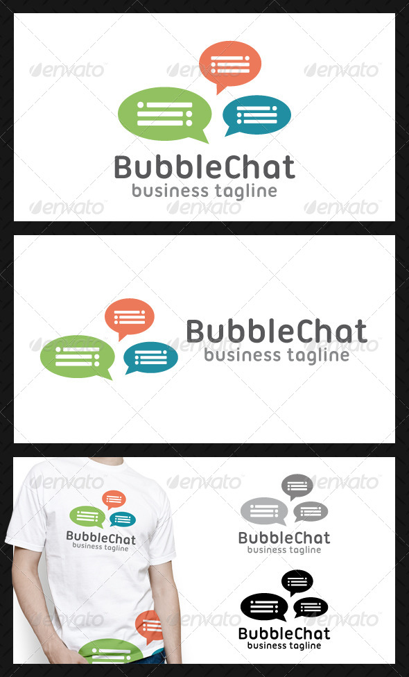 GraphicRiver Bubble Chat Logo Template 4574001