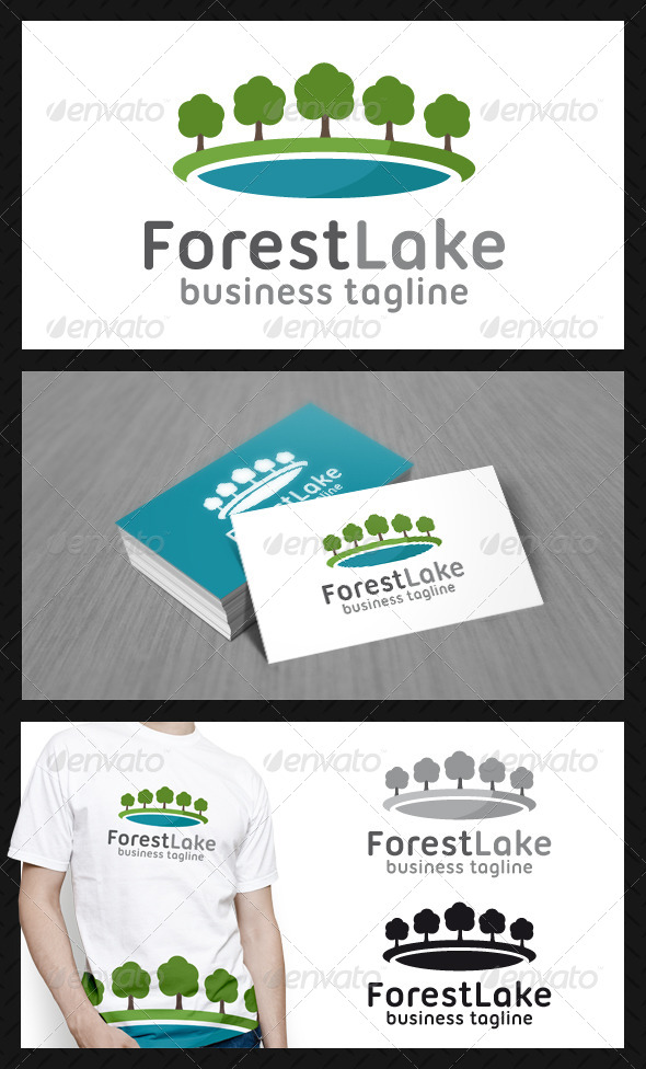 Forest Lake Logo Template - Nature Logo Templates
