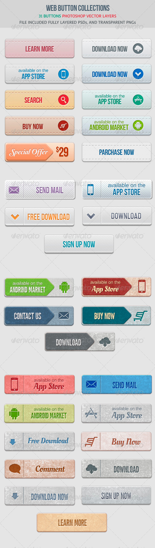 GraphicRiver Web Buttons Collection 4574240