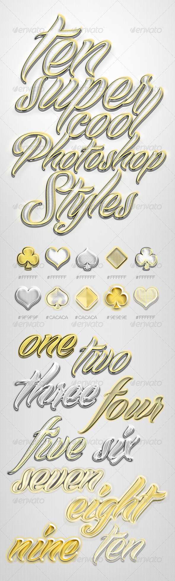 GraphicRiver Gold & Silver Shiny Layer Styles 4574250