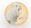 Gold globe art on the  white - PhotoDune Item for Sale