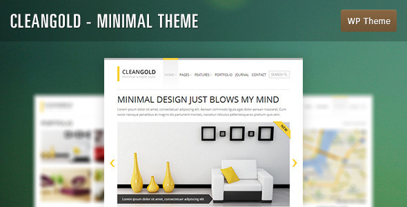 CleanGold - Minimal WordPress Theme