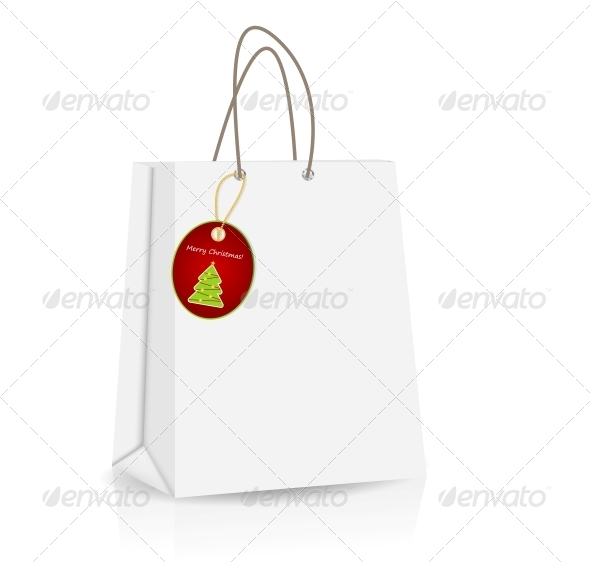 GraphicRiver Empty Shopping Bag with Christmas Label 4574401