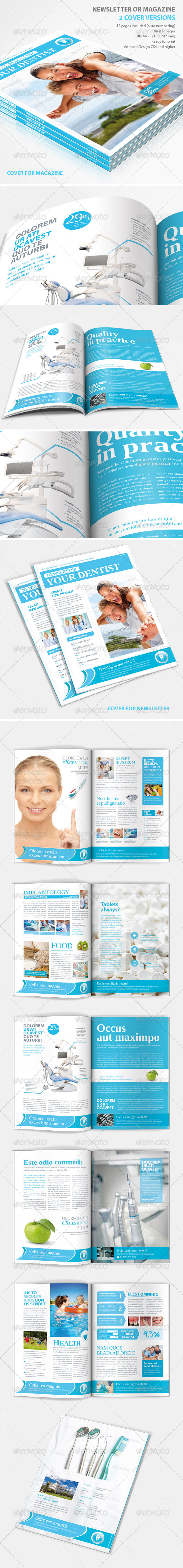 GraphicRiver Medical Newsletter or Magazine 4574457
