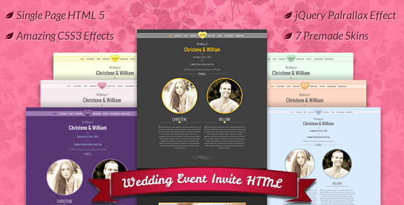 ThemeForest Wedding Event Invite HTML5 4574458