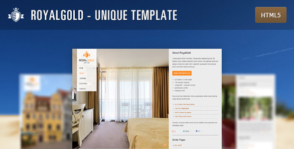 RoyalGold - Unique HTML5 Site Template - Travel Retail