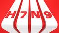 H7N9 on white stripes - PhotoDune Item for Sale
