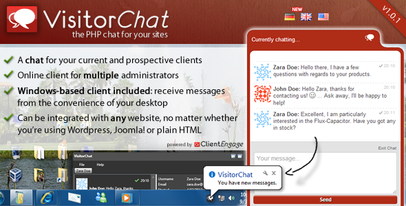 CodeCanyon VisitorChat PHP Chat with Web- & Windows Clients 4575078