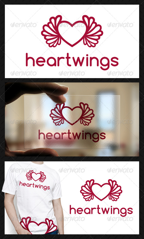 GraphicRiver Heart Wings Logo Template 4575184