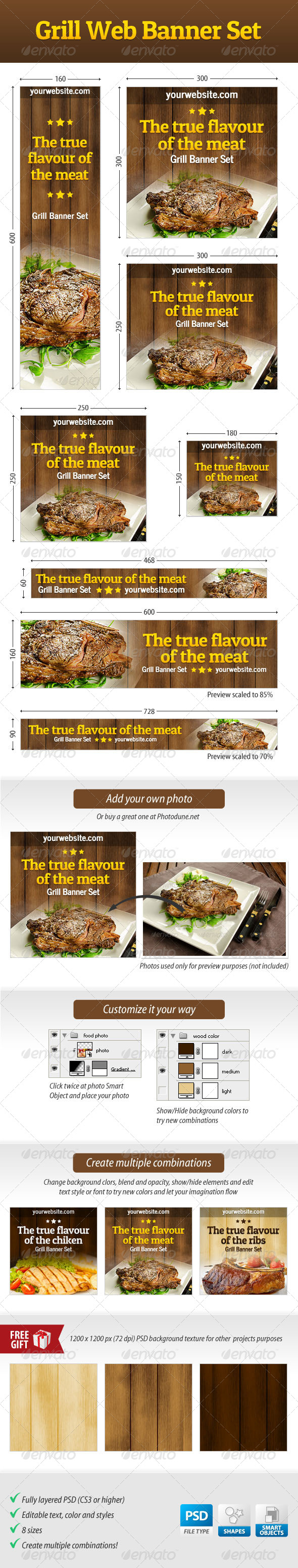 GraphicRiver Grill Web Banner Set 4529286