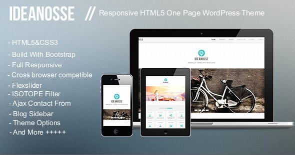 ThemeForest Ideanosse Responsive One Page WordPress Theme 4575358