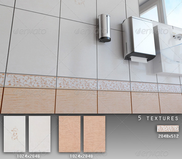 Professional Ceramic Tile Collection C024 - 3DOcean Item for Sale