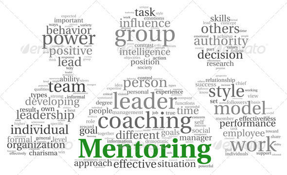 Mentoring concept in word tag cloud - Stock Photo - Images