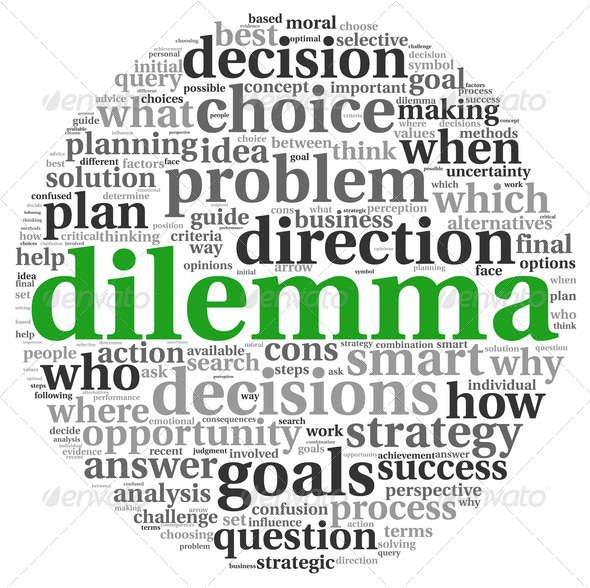 Dilemma concept in tag cloud - Stock Photo - Images